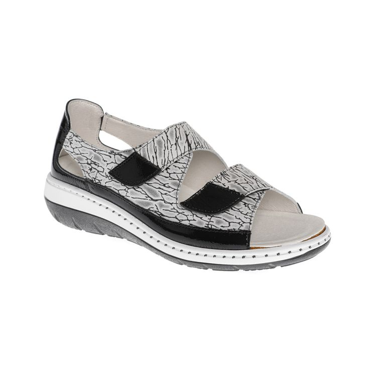 Sandale Adour AD 2228 C Noir et blanc
